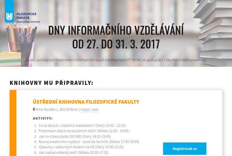 Dny Informačního Vzdělávání 2017